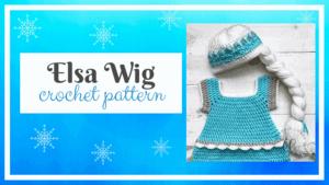 Elsa Wig Free Crochet Pattern