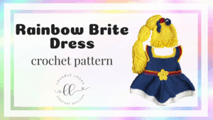 free rainbow brite dress costume crochet pattern
