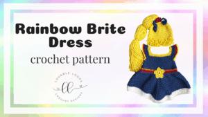free rainbow brite costume dress crochet pattern