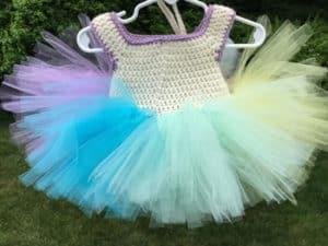 Free Rainbow Sherbet Crochet Tutu Dress Pattern Crochet Tutu Pattern