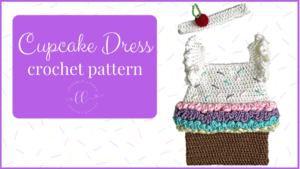 free cupcake dress costume crochet pattern