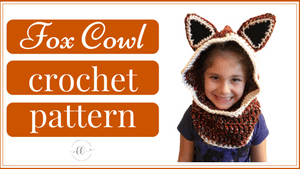 free hooded fox cowl crochet pattern