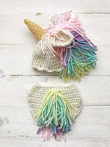 Free Unicorn Diaper Cover Crochet Pattern | Crochet Diaper ...