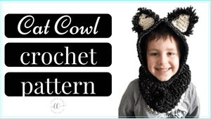 free hooded cat cowl crochet pattern