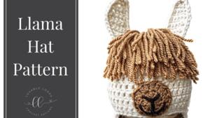 free llama hat crochet pattern