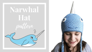 free narwhal hat crochet pattern