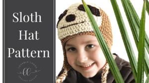 free sloth hat crochet pattern