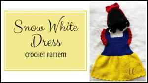 free snow white dress costume crochet pattern