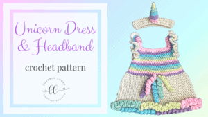 free unicorn dress costume crochet pattern