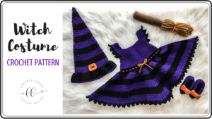 free witch costume dress crochet pattern