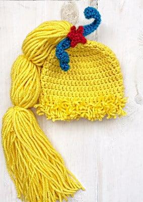 free rainbow brite wig crochet pattern