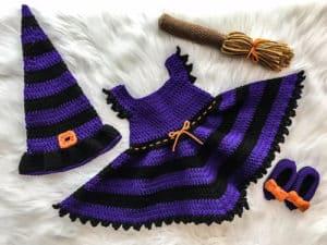 witch dress costume free crochet pattern