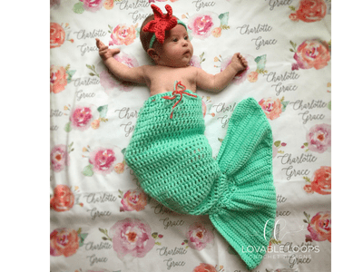 Free Mermaid Tail For Baby Crochet Pattern Baby Mermaid Tail