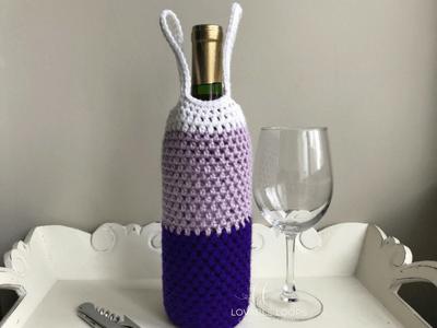 Free Wine Bottle Bag Crochet Pattern Bottle Tote Pattern Crochet