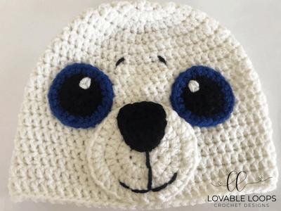 free seal hat crochet pattern