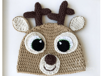 free deer hat crochet pattern