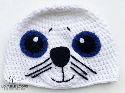 free seal hat crochet pattern