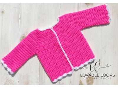 8077faf93 Free Scallop Trim Cardigan Crochet Pattern
