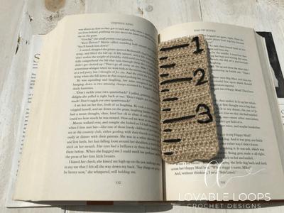 free ruler bookmark crochet pattern