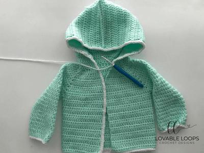 free hooded unicorn cardigan crochet pattern
