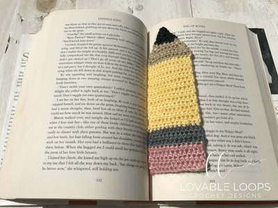 free pencil bookmark crochet pattern