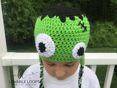 Free Frankenstein Hat Crochet Pattern