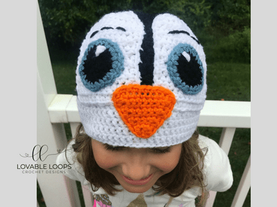 free penguin hat crochet pattern