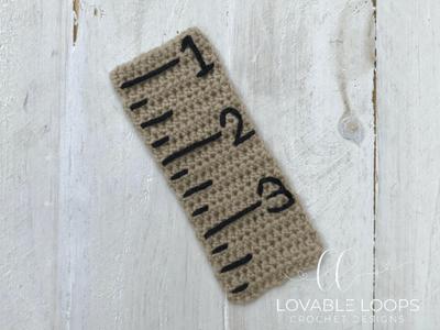 free ruler applique bookmark crochet pattern