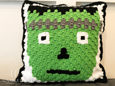 Free Frankenstein Pillow Crochet Pattern Frankenstein Pixel Graph