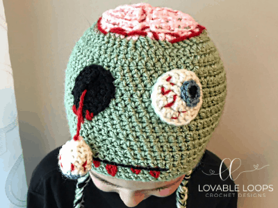 Free Zombie Hat Crochet Pattern Monster Hat Crochet Halloween Hat