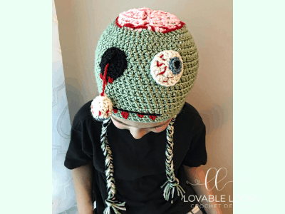 free zombie hat crochet pattern
