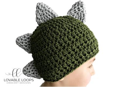 3 Sizes Free Dinosaur Hat Crochet Pattern Diy Dinosaur Gift