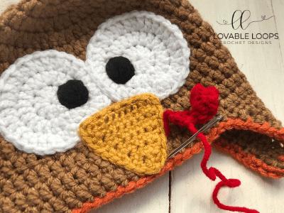 free turkey hat crochet pattern