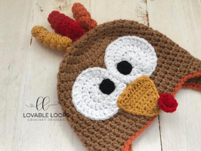 Free Turkey Hat Crochet Pattern Thanksgiving Crochet Crochet Turkey