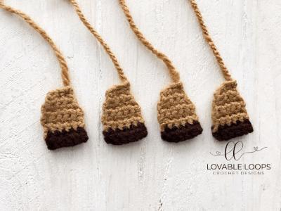 free reindeer applique crochet pattern