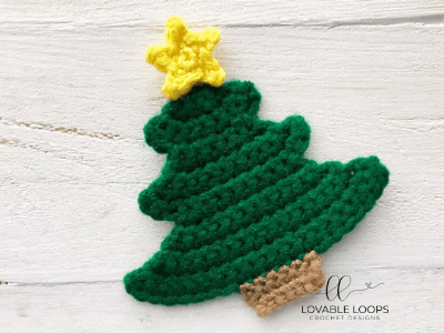 free christmas tree applique crochet pattern