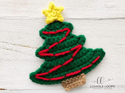 Free Christmas Tree Crochet Pattern Christmas Tree Applique Pattern