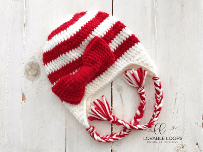 free candy cane hat crochet pattern