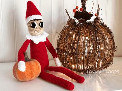 Little Christmas elf   Free amigurumi pattern   lilleliis   300x400