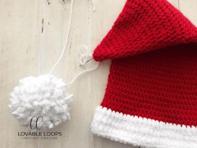 free santa hat crochet pattern