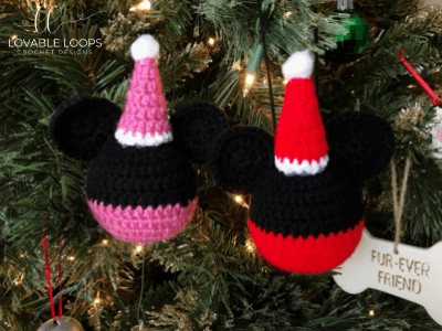 Free Mickey Mouse And Minnie Mouse Ornament Crochet Pattern