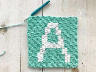 blanket crochet pattern letter A
