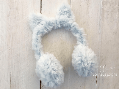 Free Fur Earmuffs Crochet Pattern | Go For Faux Earmuff Crochet Pattern