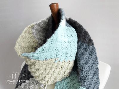 Free c2c Scarf Crochet Pattern | Corner to Corner Scarf Pattern