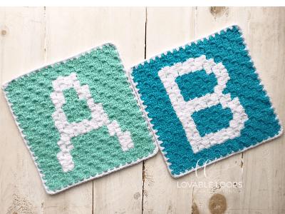 alphabet blanket crochet pattern letter b