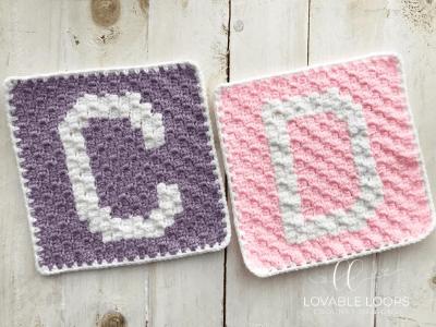 alphabet blanket crochet pattern letter c