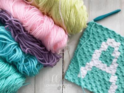 Letter A Graph Free Crochet Pattern Alphabet Crochet Baby Blanket