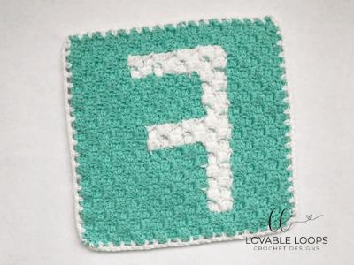 alphabet blanket letter f graph crochet pattern