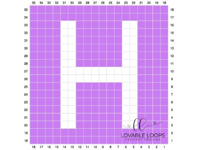 letter h graph free crochet pattern