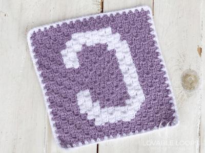 alphabet blanket letter c square crochet pattern